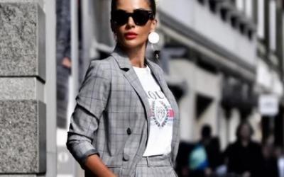 С чем носить пиджак в клетку женский в 2019 году? Учимся носить красиво!