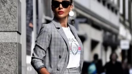 С чем носить пиджак в клетку женский в 2021 году? Учимся носить красиво!