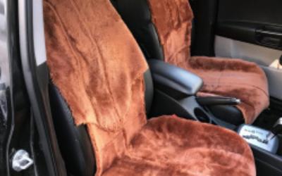 Шьем меховой чехол на кресло автомобиля из старой дубленки
