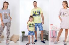 Модная трикотажная одежда для детей и взрослых