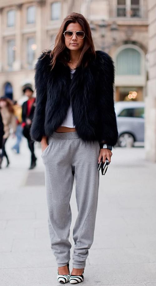 брюки с шубой фото
